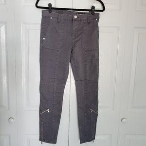 NEW Blank NYC Cargo x Moto Gray Crop Skinny Jeans